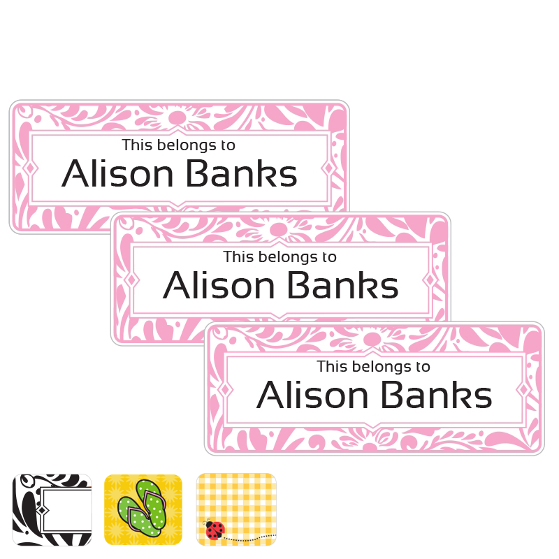 Filigree Pink Book Labels Book Plates
