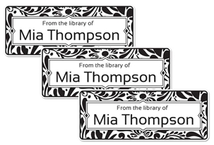 Filigree (black) - Book Labels