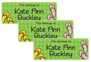 Flip Flops (bright) - Book Labels