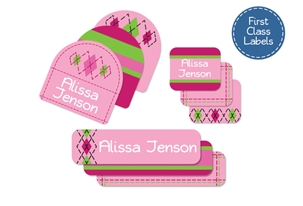 Tailored (pinks) First Class School Labels