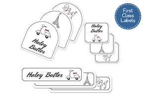 Parisian (belle) First Class School Labels