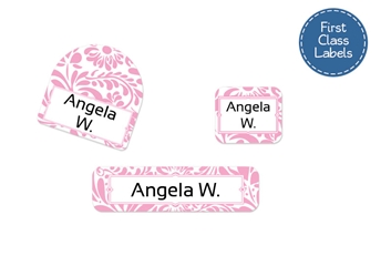 Filigree posie - First Class School Labels