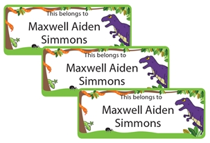 Jungle Scene Trexx - Book Labels