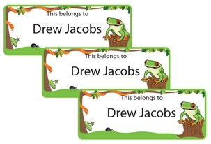 Jungle Scene Hiphop - Book Labels