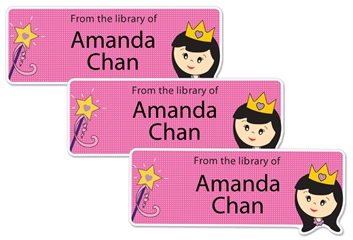 Princess Lily - Book Labels