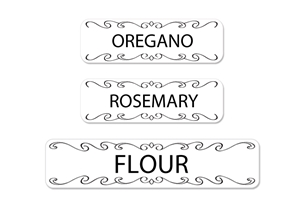 Classic (b&w) Spice Labels and Canister Labels
