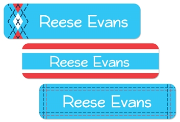 Tailored (turquoise) Large Labels