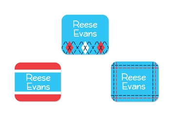 Tailored (turquoise) Tag-a-Tag Clothing Labels