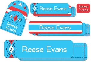 Tailored (turquoise) Camp Labels