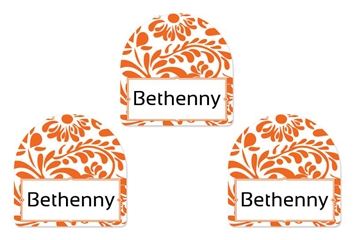 Filigree (tangerine) Shoe Labels