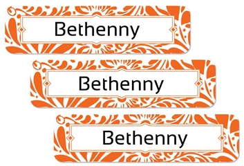 Filigree (tangerine) Large Labels