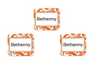 Filigree (tangerine) Tag-a-Tag Clothing Labels