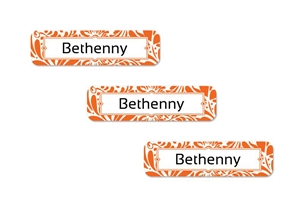 Filigree (tangerine) Slim Labels