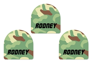 Camo (green mix) Shoe Labels