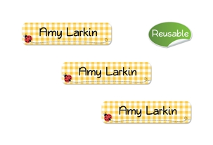 Ladybugs (yellow) Restickable Slim Labels
