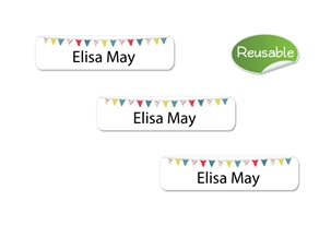 Pennants  (primary) Restickable Slim Labels