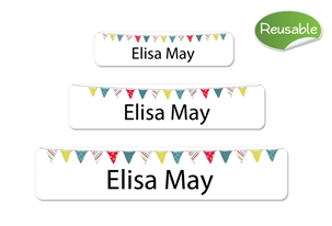 Pennants  (primary) Restickable Labels Set