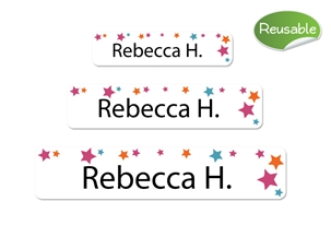 Stars (pink) Restickable Labels Set
