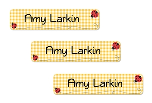 Ladybugs (yellow) Classic Labels