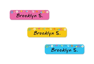Hippie Love (bright) Slim Labels