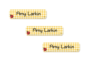 Ladybugs (yellow) Slim Labels
