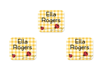 Ladybugs (yellow) Tag-a-Tag Clothing Labels