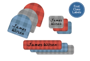 Lumberjack First Class School Labels