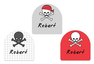 Skulls Pirates - Shoe Labels