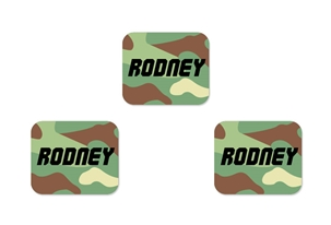 Camo (green mix) Tag-a-Tag Clothing Labels