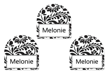 Filigree (black) Shoe Labels