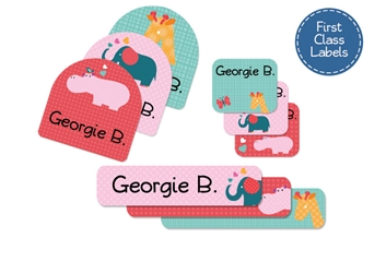 Parade Love (pinks) First Class School Labels