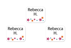 Stars (pink) Tag-a-Tag Clothing Labels