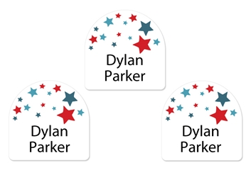 Stars (blue) Shoe Labels
