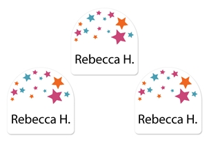 Stars (pink) Shoe Labels