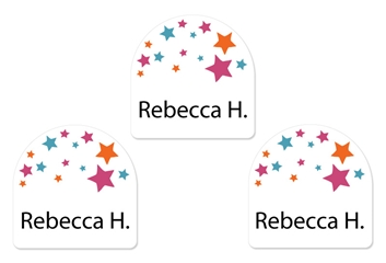 Stars pink - Shoe Labels