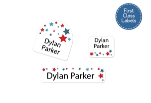 Stars (blue) First Class School Labels