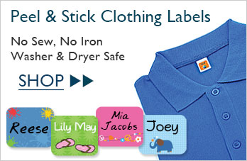 Peel & Stick Tag-a-Tag Clothing Labels