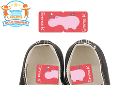 Parade Love Hippo - Preschool Shoe Labels