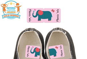Parade Love Elephant - Preschool Shoe Labels