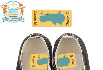Parade Stars Hippo - Preschool Shoe Labels