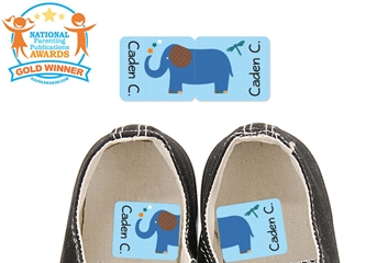 Parade Stars Elephant - Preschool Shoe Labels