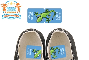 Scurry Gecko - Preschool Shoe Labels