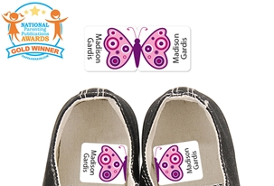 Precious Butterfly (Pink) - Preschool Shoe Labels