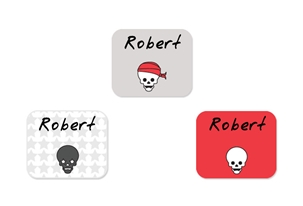 Skulls Pirates (cherry) Tag-a-Tag Clothing Labels