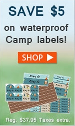 Camp Label Sale
