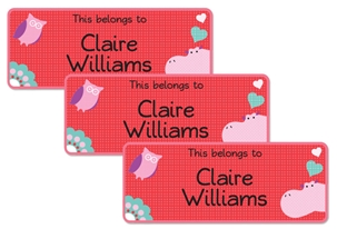 Parade Love Hippo - Book Labels