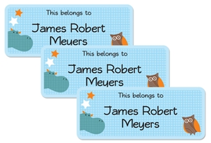 Parade Stars Hippo - Book Labels