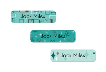Retro (aqua) Slim Labels