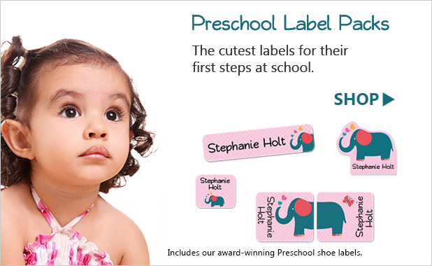 Preschool labels for kids