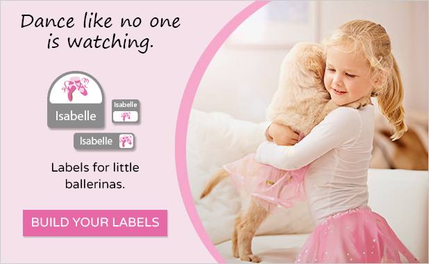 Ballerina shoes labels